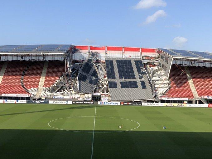 "На стадионе ""АЗ Алкмар"" обрушилась крыша"