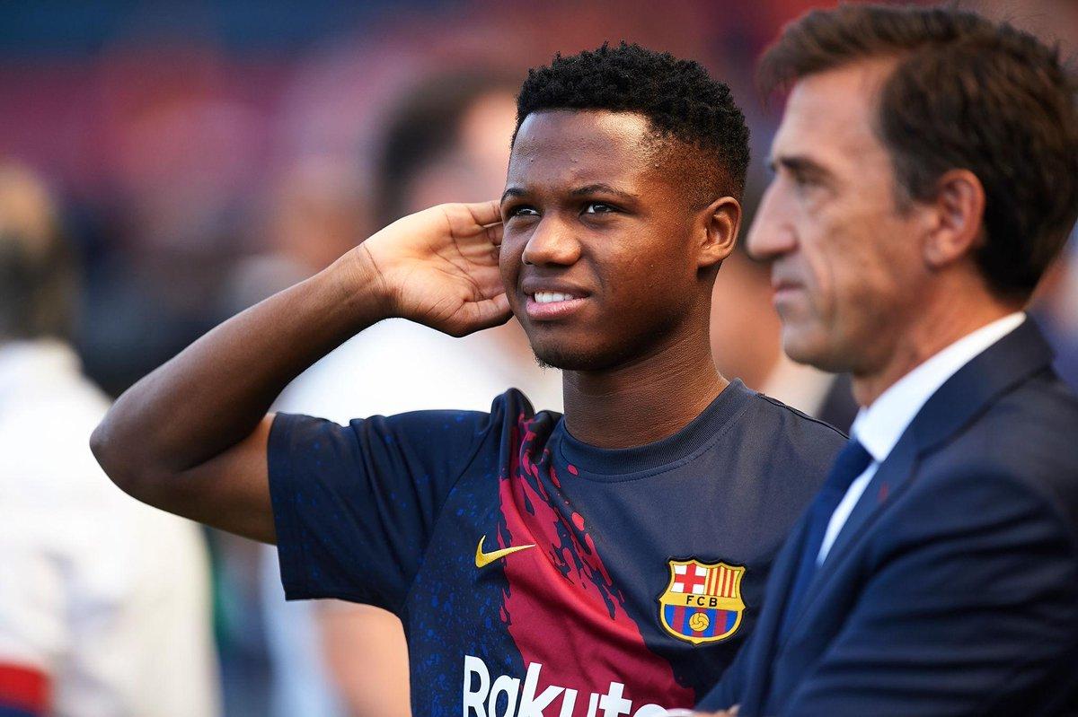 """Это'о в восторге от 16-летнего игрока """"Барселоны"""" Ансу Фати"""