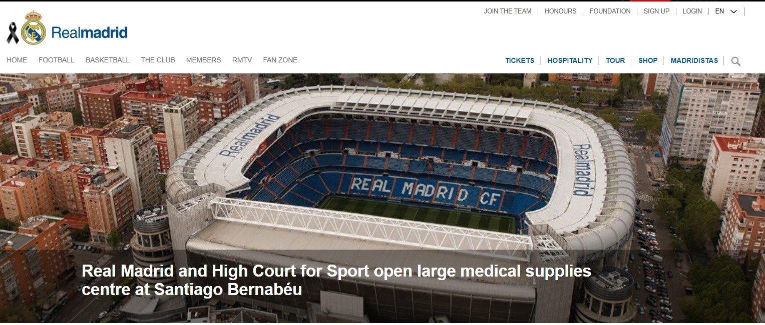 real madrid stadion Santyago Bernabeu