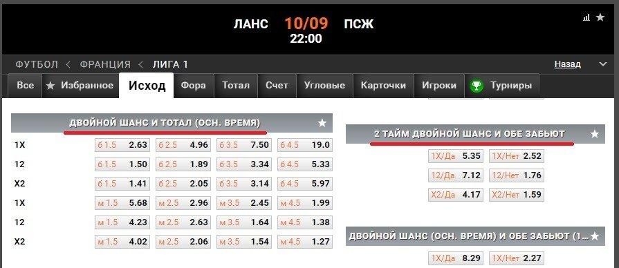 winline ru lans pszh liga 1 frantsiya