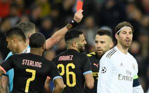 Sergio Ramos red card