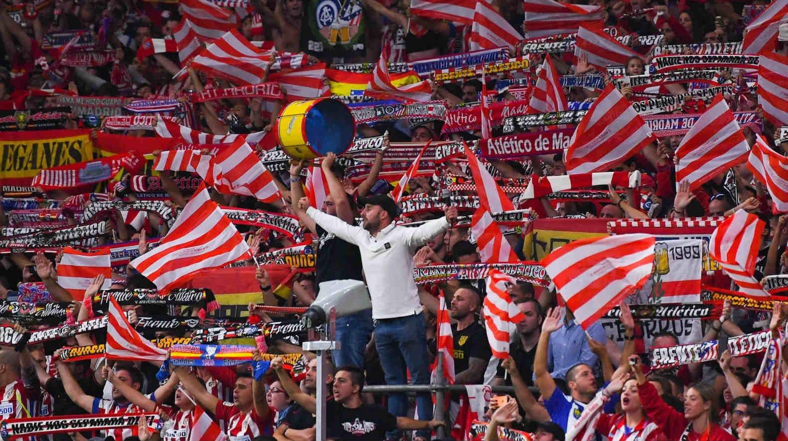 fanaty atletiko madrid ispaniya stadion vanda metrapolitano