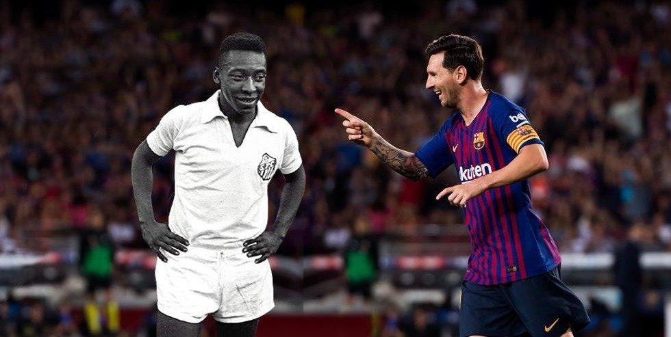 Pele and Messi