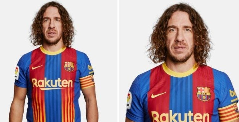 puyol barca new kit