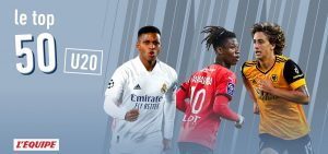 L Equipe top 50 u20 players