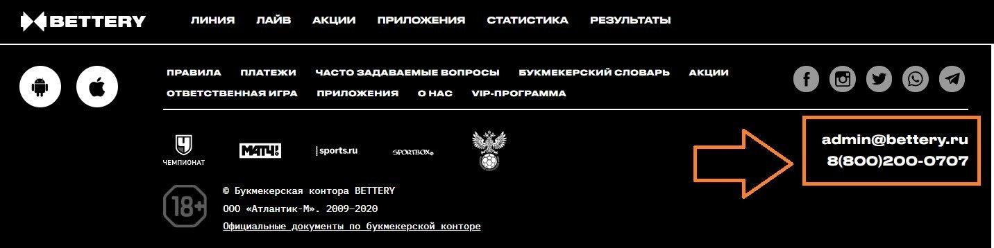 nomer telefona goryachej linii BK bettery ru telefon sluzhby podderzhki bukmekera