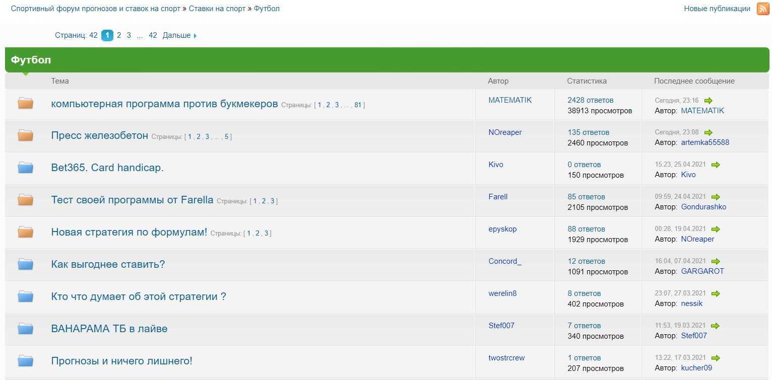 forum prognozy i stavki na futbol