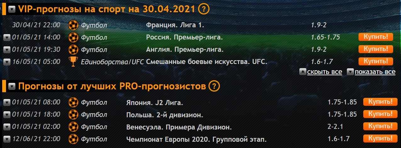vip prognozy na futbol