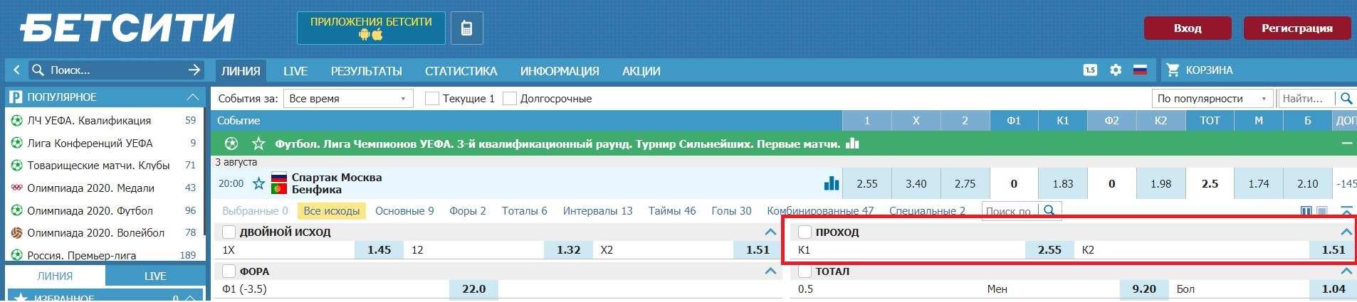 betcity ru stavki na prohod komandy futbol liga chempionov uefa