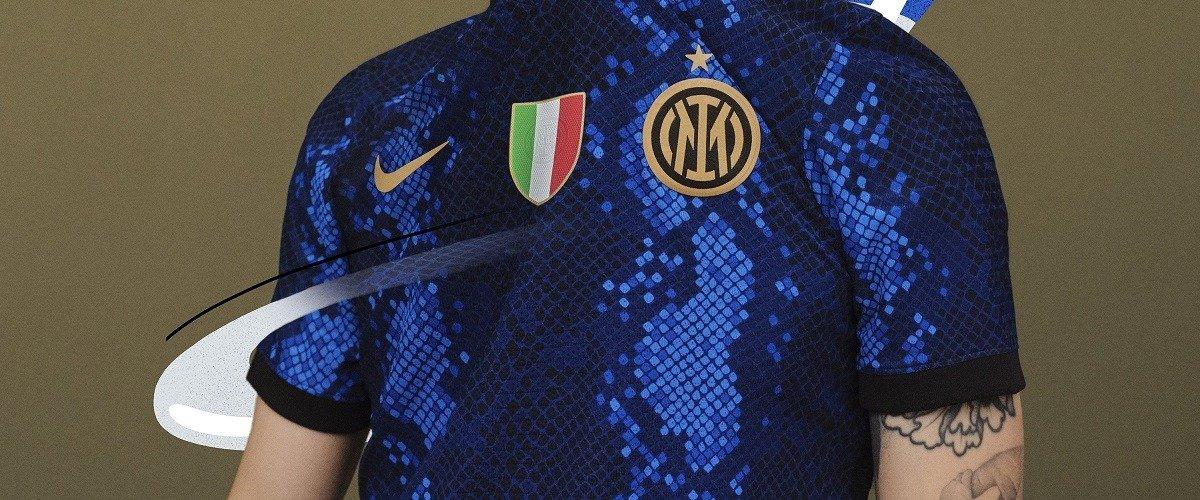 Миланский «Интер» презентовал новую домашнюю форму, выполненную в необычном змеином стиле