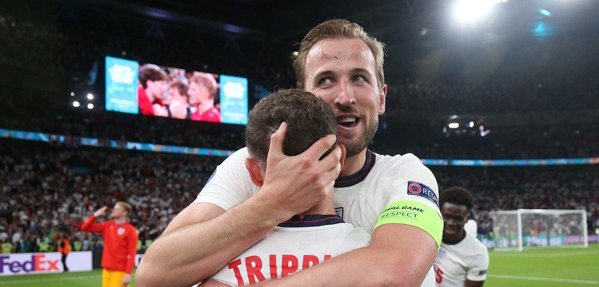 Сборная Англии впервые в истории пробилась в финал Чемпионата Европы, лучшим в матче с Данией признан Кейн