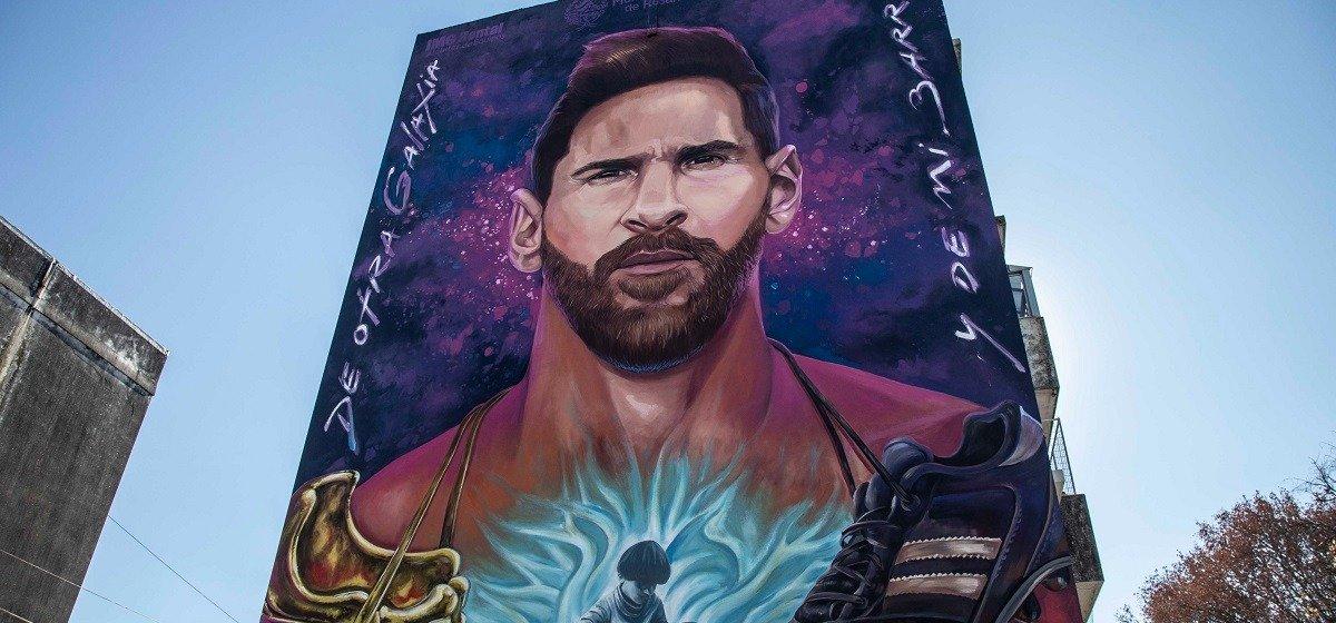 В родном городе Лионеля Месси появилось огромное граффити с изображением футболиста