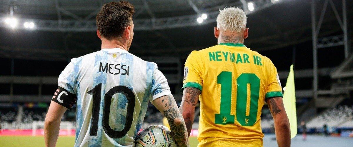 Лионель Месси и Неймар одновременно признаны лучшими игроками Кубка Америки-2020