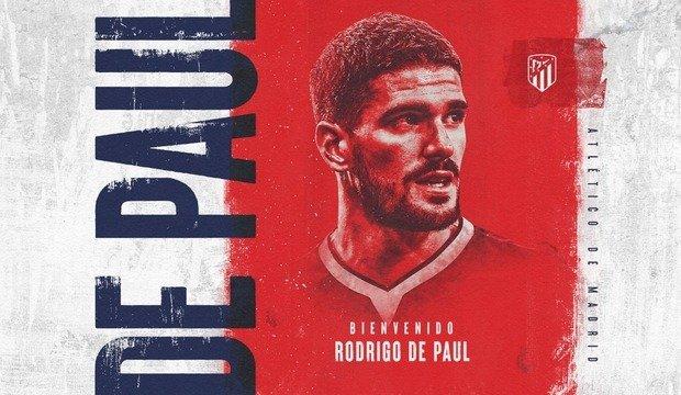 Мадридский «Атлетико» подтвердил переход Родриго Де Пауля из «Удинезе»