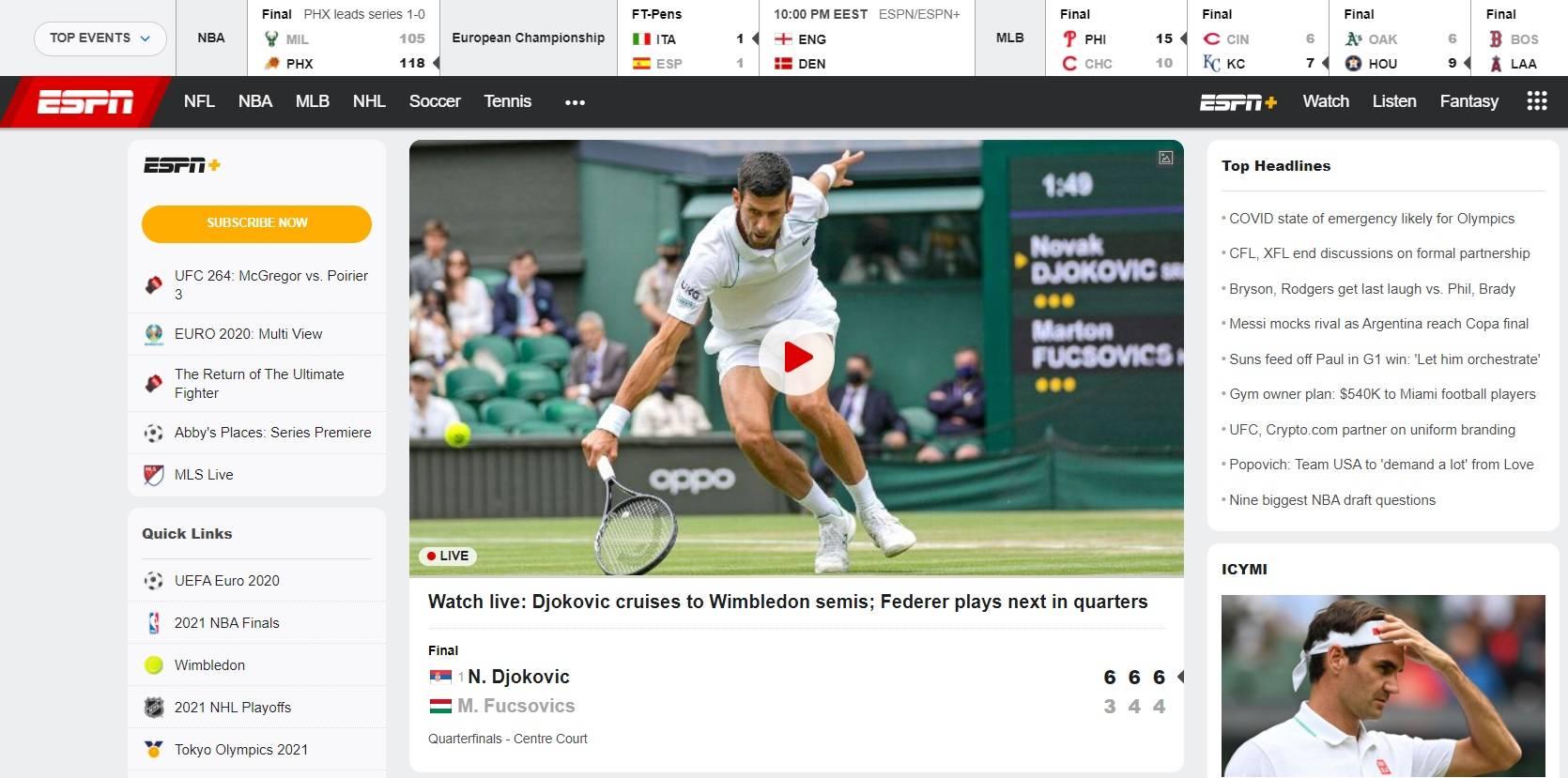 sajt espn com chem polezen v stavkah na sport