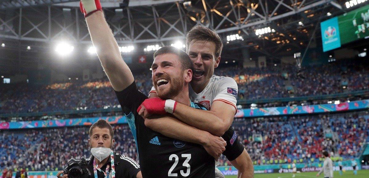 Определён лучший футболист первого четвертьфинального матча Евро-2020 Швейцария - Испания