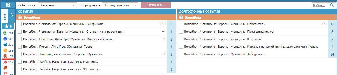 betcity ru stavki na volejbol