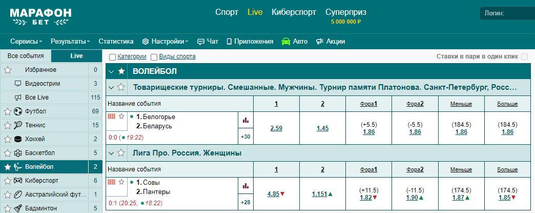 lajv stavki volejbol bk marafonbet ru